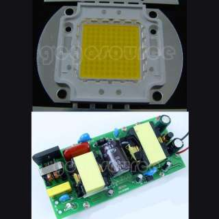 100W Warm White High Power 8000LM LED light + AC Driver