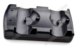 Dual Charger USB Charging Dock Station For PS3 Controllers/Move