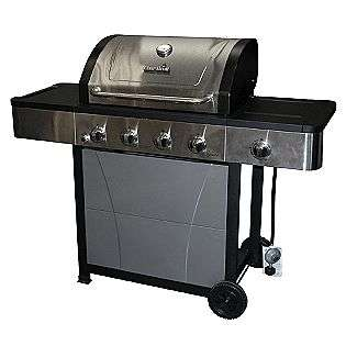 Gas Grill with Lidded Side Burner  Char Broil Outdoor Living Grills