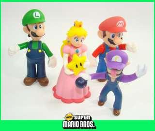12 Super Mario Bros Figure WARIO BOWSER WALUIGI GOOMBA PEACH BOO YOSHI
