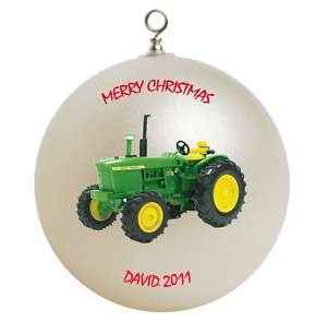 Personalized John Deere Tractor Christmas Ornament