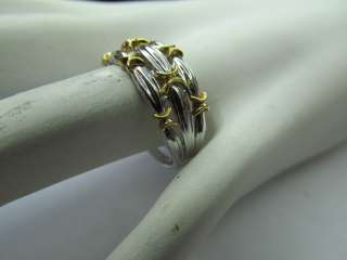 Beautiful Ladies 18k White And Yellow Gold Ring Israel