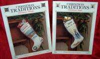LOT OF 6 CHRISTMAS TRADITIONS STOCKING PATTERNS ANGEL