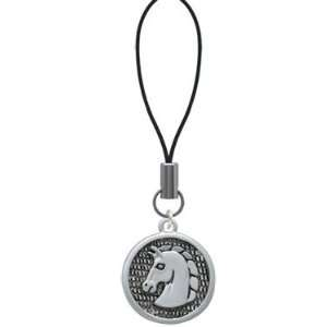Large Classic Horse Head in Disc   Cell Phone Charm
