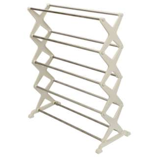 tier Foldable Stainless Steel Shoe Rack Home Organization