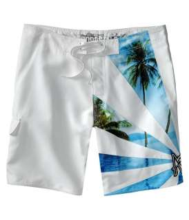 Mens AEROPOSTALE Paradise Striped Board Shorts Trunks