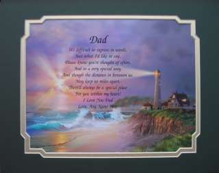 PERSONALIZED DAD POEM FATHERS DAY GIFT