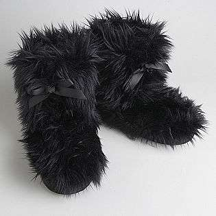 Womens Gorilla Fur Slipper Boots  Joe Boxer Shoes Womens Slippers