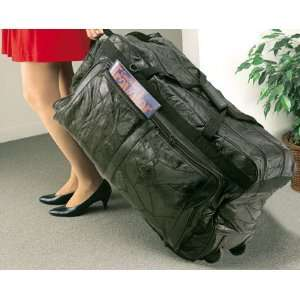 Stone Design Genuine Leather Rolling Duffle Bag LULDBW2 Sports