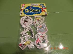 DR SEUSS GIANT SCHOOL ERASERS PARTY SCHOOL SUPPLIES