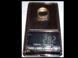SOLID 10K GOLD 2.82 GRAMS 6MM WIDE DIAMOND UNIQUE WEDDING VINTAGE MENS
