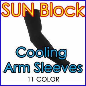 Sunblock Cooling Arm Sleeves Skin Protection |