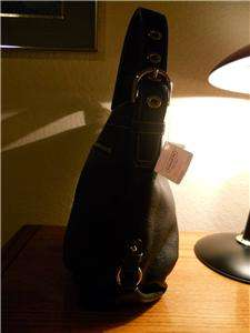 NWT Coach Large Black Pebbled Leather Hobo Duffle Handbag Purse $358