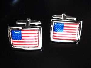 NEW AMERICAN FLAG CUFFLINK USA US UNITED STATES AMERICA