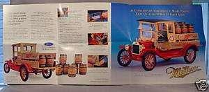Franklin Mint 1913 Ford Miller Brewery Sales Brochure