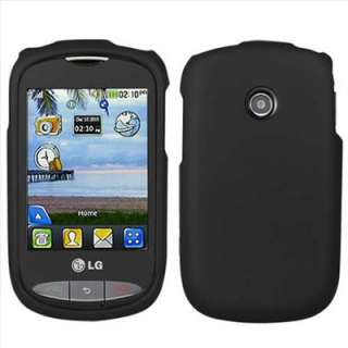 Black Rubberized Hard Case Cover for Tracfone LG 800G Net10