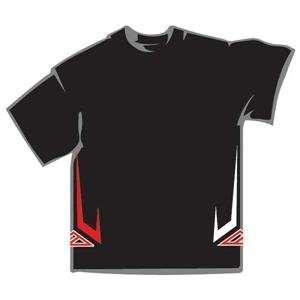Azonic Hi Side T Shirt   Large/Black Automotive