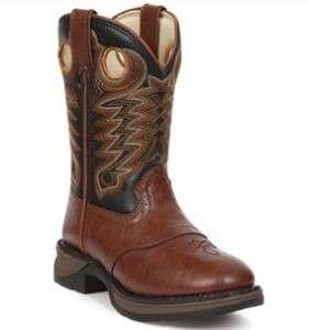 NEW! Durango Lil Durango Kids Western Boots #BT300 Chestnut & Black