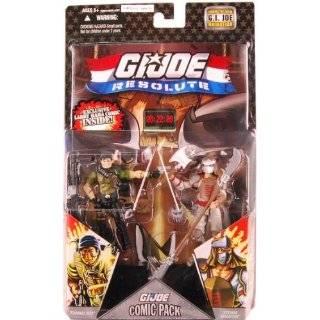G.I. JOE Hasbro Action Figures Comic Book  2 Pack