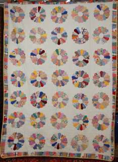 30s Dresden Plate Antique Quilt ~Mickey Mouse Disney