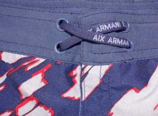 ARMANI EXCHANGE Reversible SWIM Suit SURF Board SHORTS Trunks L