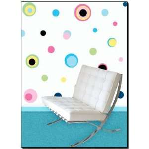 159 Polka Dots in Blues, Greens, Yellow Wall Stickers Baby