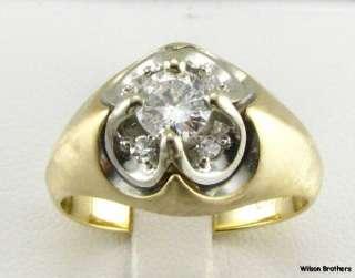 82ctw DIAMOND Unique Mens RING   14k Yellow Gold
