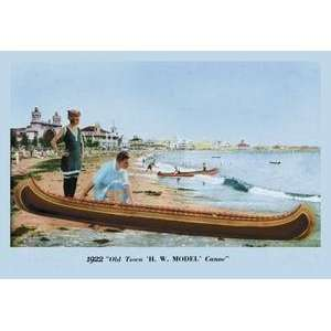 Vintage Art H.W. Model Canoe   07525 2 Home & Kitchen