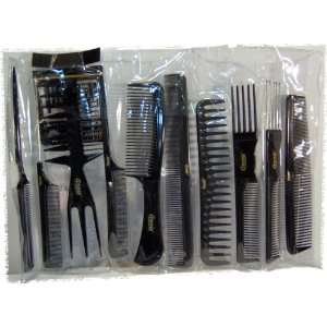 annie 10 Piece Professional Comb Set color   Black