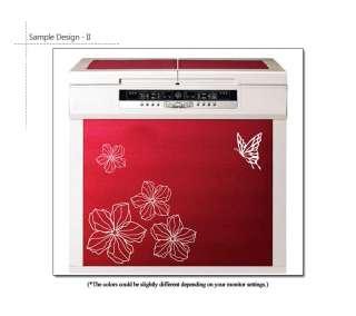 FLOWER & BUTTERFLY MURAL ART DECAL WALL STICKER VINYL