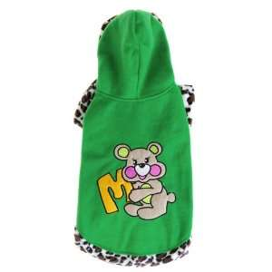 Pet Dog Apparel Clothes Hoodie Coat Size 6   Green