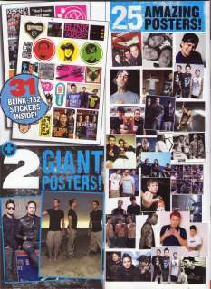 BLINK 182 KERRANG POSTER SPECIAL 25 POSTERS + 2 GIANT + 31 STICKERS