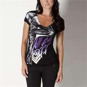 Metal Mulisha Womens 4th Street V Neck Shirt   Small