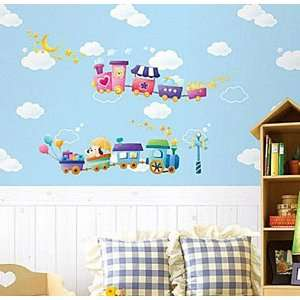 Wall Decor Removable Decal Sticker   Chu Chu Trains Baby