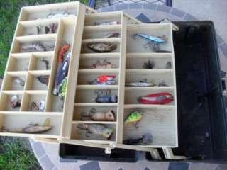 Plano fishing tackle box full of lures and fishing tackle nice box