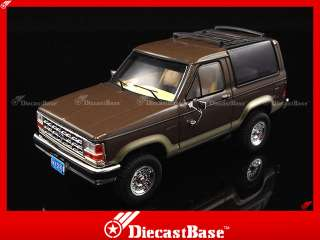 PREMIUM X Ford Bronco II 1989 2 Tones Brown Diecast Road Car Jeep 1:43