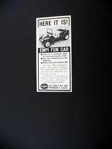 EMPI Sportster VW Kit Car 1963 print Ad