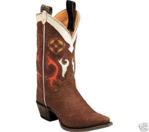 Justin Vintage Ladies Cowboy Boots L6307 Brown