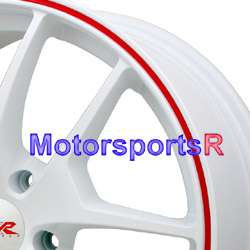 18 18x8.5 XXR 518 White Red Stripe Rims Wheels 09 10 11 12 Acura TL