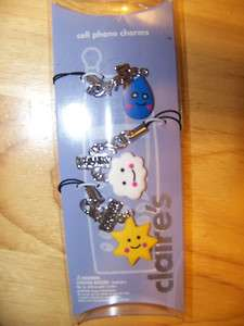 Claires Best Friends Sunshine Clouds Cell Phone Charms