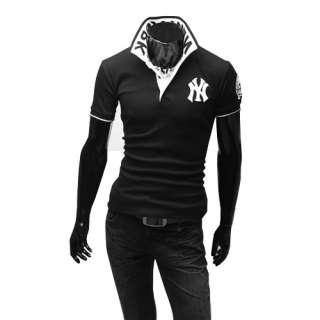 NWT Mens polo Shirt Slim Casual Shirts Fit Short sleeved T shirts