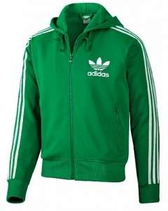 Adidas Originals Mens Small S Hooded Flock Track Top Jacket Kelly