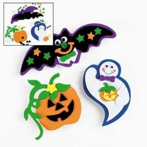 12 Foam Suction Cup Halloween Character Craft Kits Toys & Games