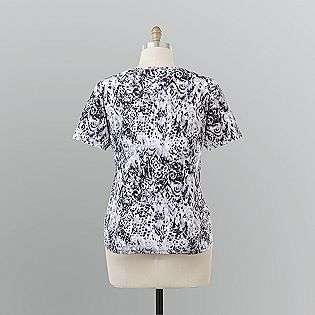 Womens Plus Printed Knit T Shirt  Basic Editions Clothing Womens