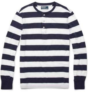Polo Ralph Lauren Striped Long Sleeve Henley T shirt  MR PORTER