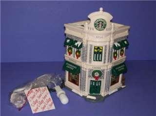 STARBUCKS COFFEE ORIGINAL SNOW VILLAGE DEPT 56 w/BOX MINT