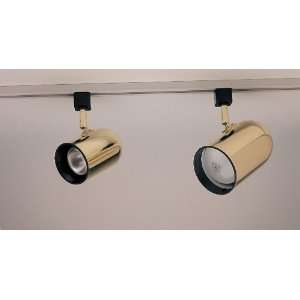 PLC Lighting Bullet Track Fixture in Polished Brass Finish