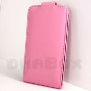 For LG Optimus BLACK P970 , Leather Case Cover Skin Film f_Pink