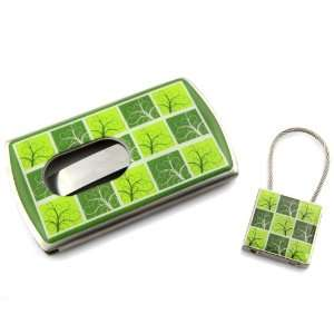 Olive And Lime Green Filigree Grid Spring Loaded Easy