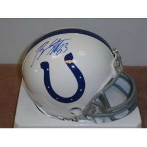 Brandon Stokley Autographed/Hand Signed Indianapolis Colts Mini Helmet